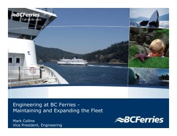 Engineering at BC Ferries - Maintaining and ... - SNAME.org