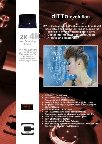 diTTo evolution brochure August10 - Cintel