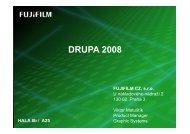 DRUPA meeting 2008 - Fujifilm CZ