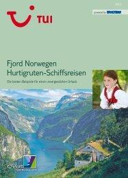 Fjord Norwegen Hurtigruten-Schiffsreisen