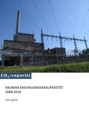 Kasvihuonekaasupäästöt kunnissa 2008-2010, CO2-raportin ...