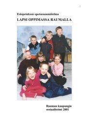 Esiopetuksen opetussuunnitelma - Rauma