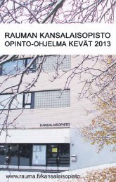 Kevään 2013 opinto-ohjelma (pdf) - Rauma