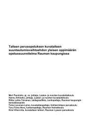opetussuunnitelma - Rauma