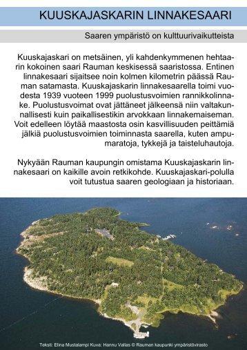 Kuuskajaskarin maisema -esite - Rauma