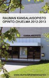 Lukuvuoden 2012-2013 opinto-ohjelma - Rauman kaupunki