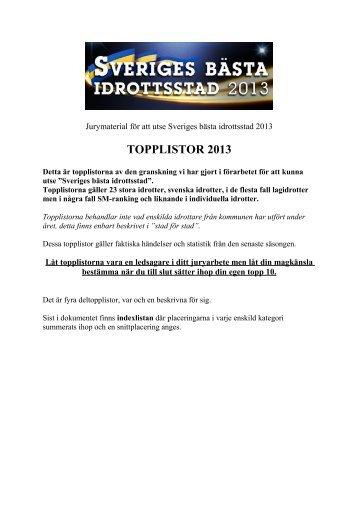 Pdf-dokument: Topplistor 2013 - Svt