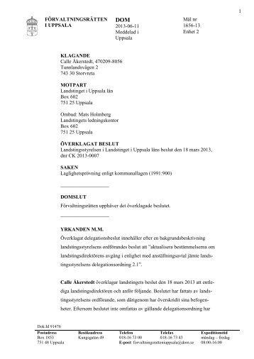 Pdf-dokument: Förvaltningsrättens dom - Svt