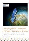 Försörjningskvoten i olika delar av Sverige – scenarier till år 2050 - Page 2