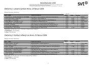 Melodifestivalen 2006: Röstnings- och tittarsiffror (PDF) - Svt