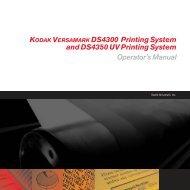 KODAK VERSAMARK DS4300 Printing System and DS4350 UV ...