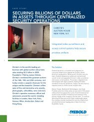 Securing Billions of Dollars in Assets Through - Diebold