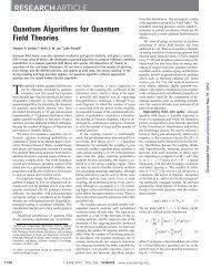Quantum algorithms for quantum field theories - Caltech Theoretical ...