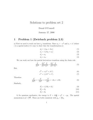 Solutions to problem set 2