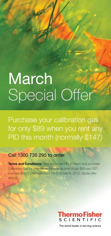Rentals Mar/Apr Offers - Thermo Fisher