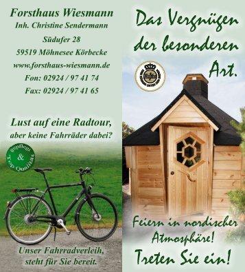 Unser Vorschlag - Forsthaus Wiesmann, Möhnesee
