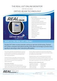 the real uvt online monitor ortho-beam technology - Thermo Fisher