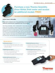 Purchase a new Thermo Scientific Orion VERSA ... - Thermo Fisher