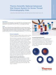 Vial Closure System for Screw Thread Chromatography Vials