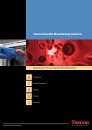 Thermo Scientific Blood Banking Solutions - Thermo Fisher