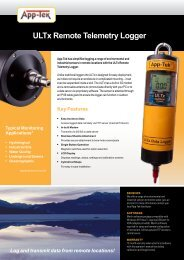 ULTx Remote Telemetry Logger Key Features - Thermo Fisher