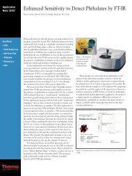 Enhanced Sensitivity to Detect Phthalates by FT-IR - Thermo Fisher
