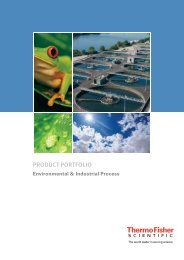 Product Portfolio Environmental & Industrial Process - Thermo Fisher