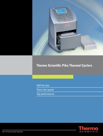 Download Piko™ Thermal Cyclers Brochure - Thermo Fisher