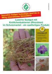 Luzerne Saatgut mit Knöllchenbakterien - Feldsaaten ...