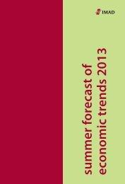 summer forecast of economic trends 2013 - UMAR