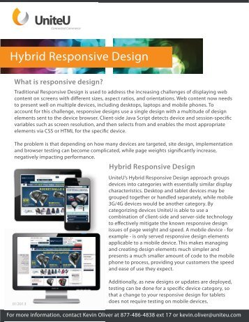 Hybrid Responsive Design - UniteU
