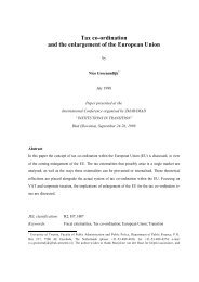 Tax Co-ordination and the Enlargement of the EU - UMAR