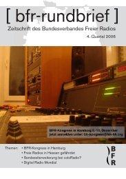Rundbrief des BFR - Bundesverband Freier Radios