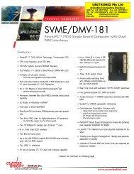 Curtiss Wright SVME/DMV-181 PowerPC 7410 - Unitronix