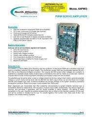 NAI 64PW3 VME Dual Channel PWM motor - Unitronix