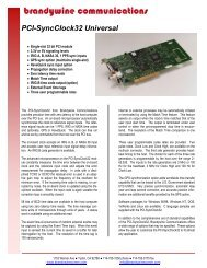 PCI-SyncClock32 Universal - Time & Frequency Solutions