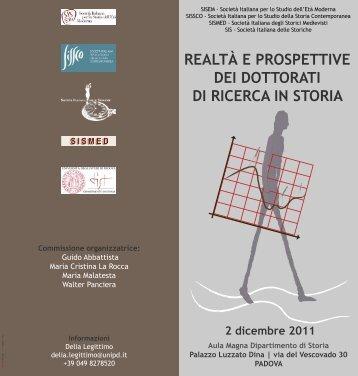 pieghevole - Università degli Studi di Trieste