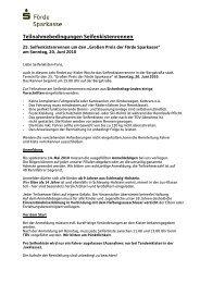 Teilnahmebedingungen Seifenkistenrennen - Förde Sparkasse