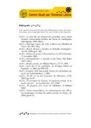 Visualizza e scarica la bibliografia in formato pdf - Università degli ...