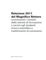 Relazione 2011 del Rettore - Università degli Studi di Trieste