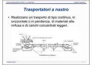 Trasportatori a nastro - Università degli Studi di Trieste