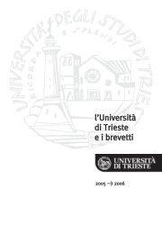 Luniv. e i suoi brevetti - Università degli Studi di Trieste