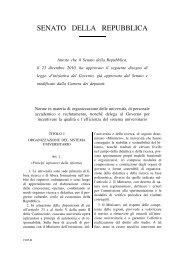 riforma Gelmini - Università degli Studi di Trieste