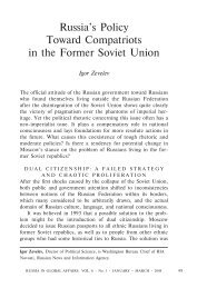 Russia's Policy Toward Compatriots in the ... - Units.muohio.edu
