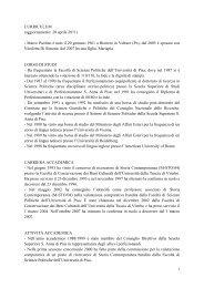 CURRICULUM (aggiornamento: 20 aprile 2011) - Marco Paolino è ...