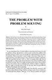 THE PROBLEM WITH PROBLEM SOLVING - Units.muohio.edu