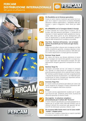 Vantaggi Distribuzione Internazionale - Fercam Logistics