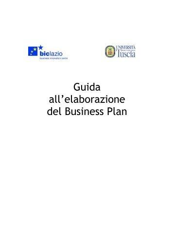 Guida all'elaborazione del Business Plan - Università degli Studi ...