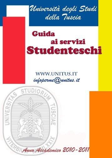 Guida ai Servizi di Ateneo (pdf) - Università degli Studi della Tuscia