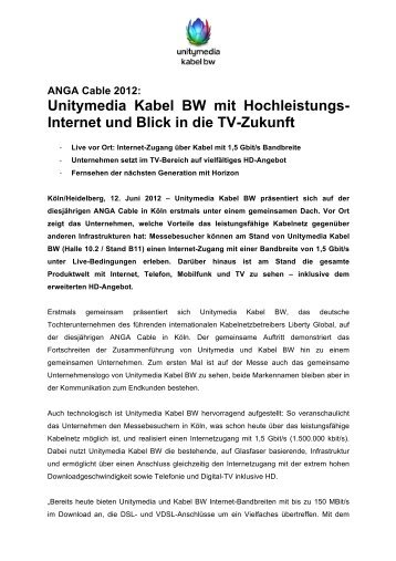 Pressemitteilung: ANGA Cable 2012 - PresseBox